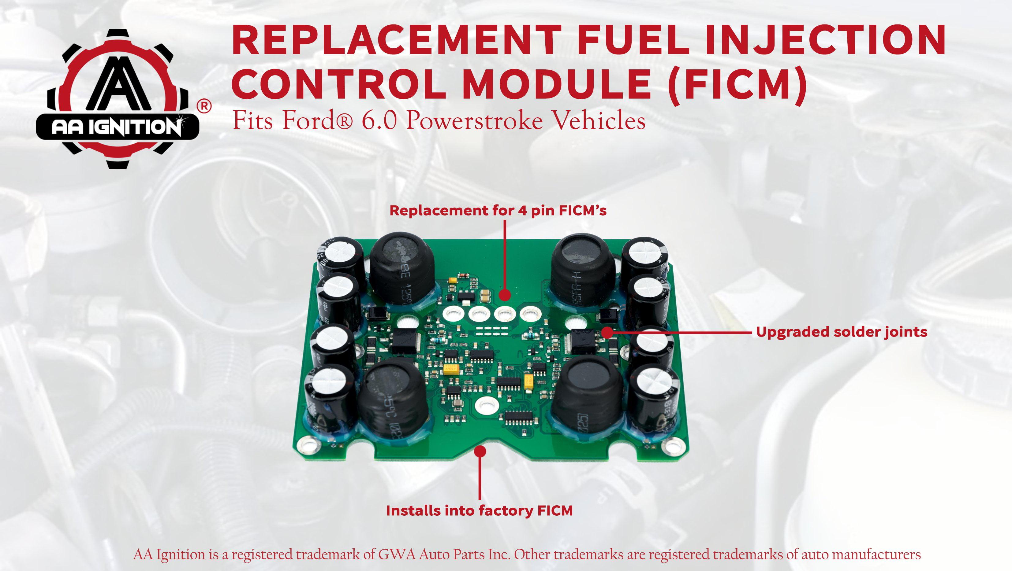 Fuel Injection Control Module FICM Power Supply Board For 2004-2010 Powerstroke 6.0L Ford E350 E450 F250 F350 F450 F550 Super Duty