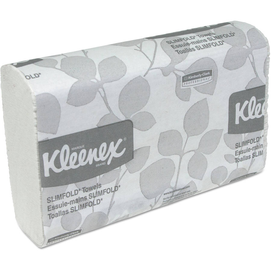"Kimberly-Clark Professional Kleenex Slimfold White Hand Towels, 7 1/2"" x 11 3/5"", 24 Packs of 90, 2160 Total"