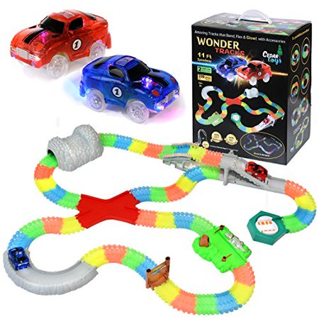 Cedar Toys Wonder Tracks Car Race Track Set The Complete With 220 Pieces Of Flexible