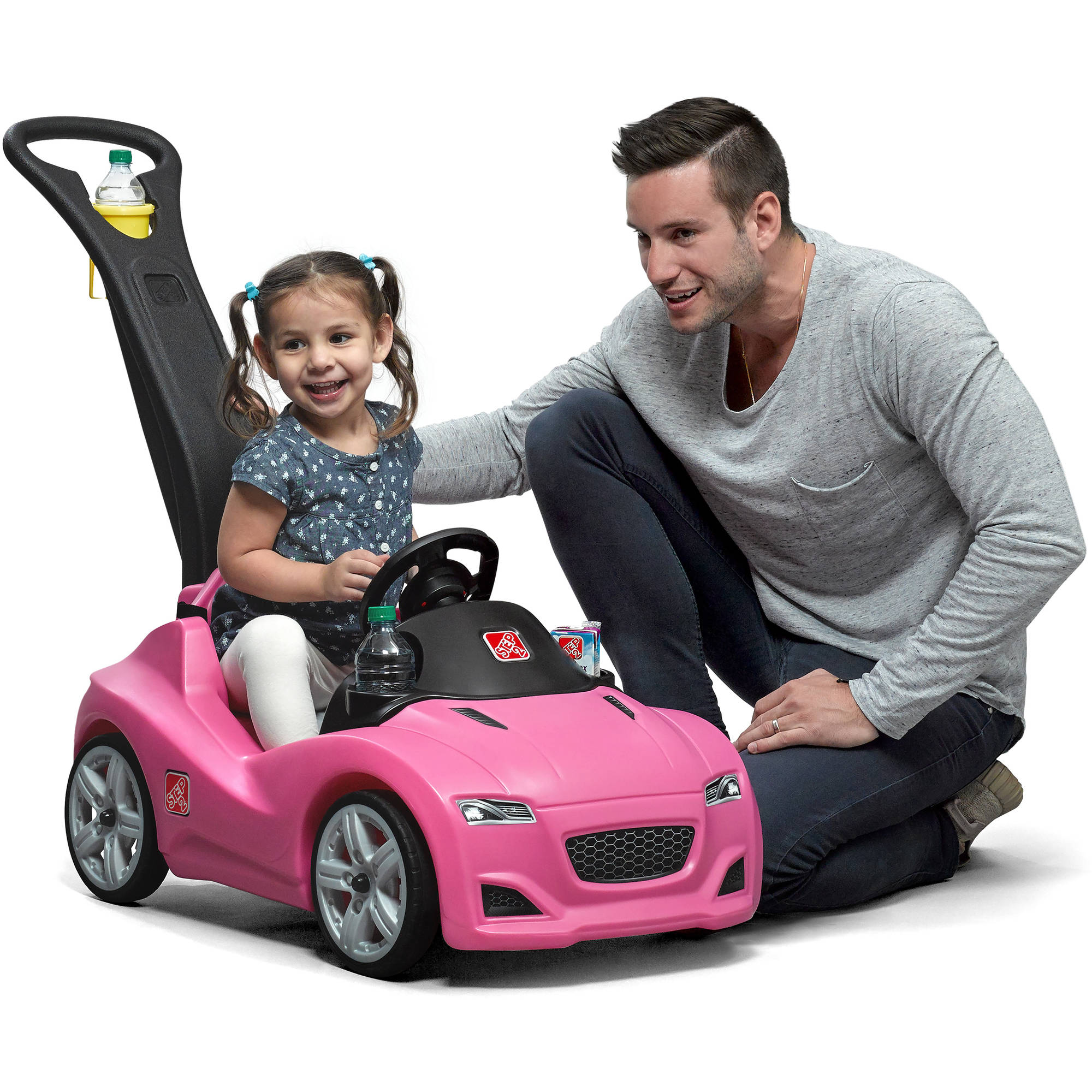 Step2 Whisper Ride Cruiser with large, under seat storage and multiple cup holders , Pink
