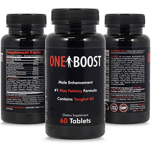One Boost Testosterone Booster For Men & Women - 3 Pack -  Libido Test Boost, Energy & Overall Well-Being, 180 ct.