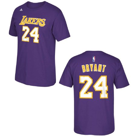 Los Angeles Lakers Kobe Bryant Purple Name And Number T Shirt