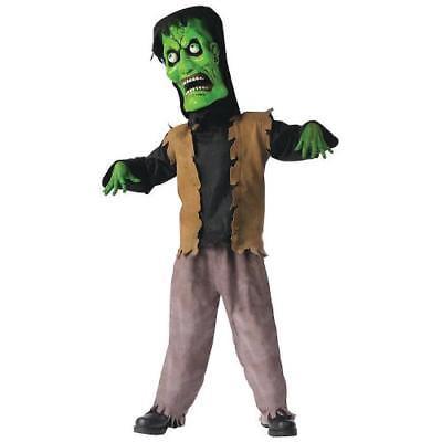 IN-MC0717LG Bobble Head Green Monster Boys Halloween Costume LARGE