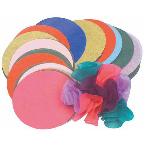 """Roylco Pre-Cut Tissue Paper Circle, 4"""", Assorted Colors, Pack of 480"""