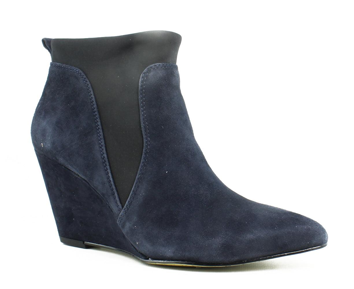 New Bella Vita Womens Deryn NavySuede BlackGore Ankle Boots Size 6 (AA,N) by Bella Vita