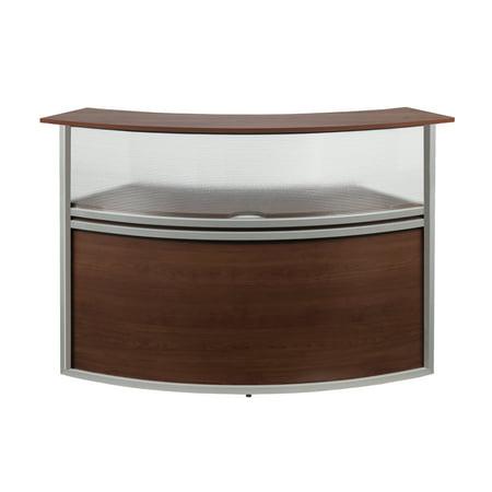 OFM Marque Series Model 55315 Plexi Reception Desk Station Add-On, Cherry