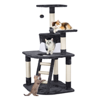 SmileMart 48-in Cat Tree Condo Scratching Post Tower