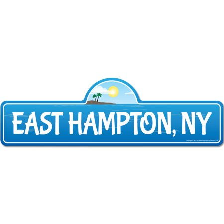 East Hampton, NY New York Beach Street Sign | Indoor/Outdoor | Surfer, Ocean Lover, Décor For Beach House, Garages, Living Rooms, Bedroom | Signmission Personalized - East Room Halloween