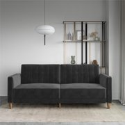DHP Pin Tufted Transitional Sofa Bed, Multiple Colors