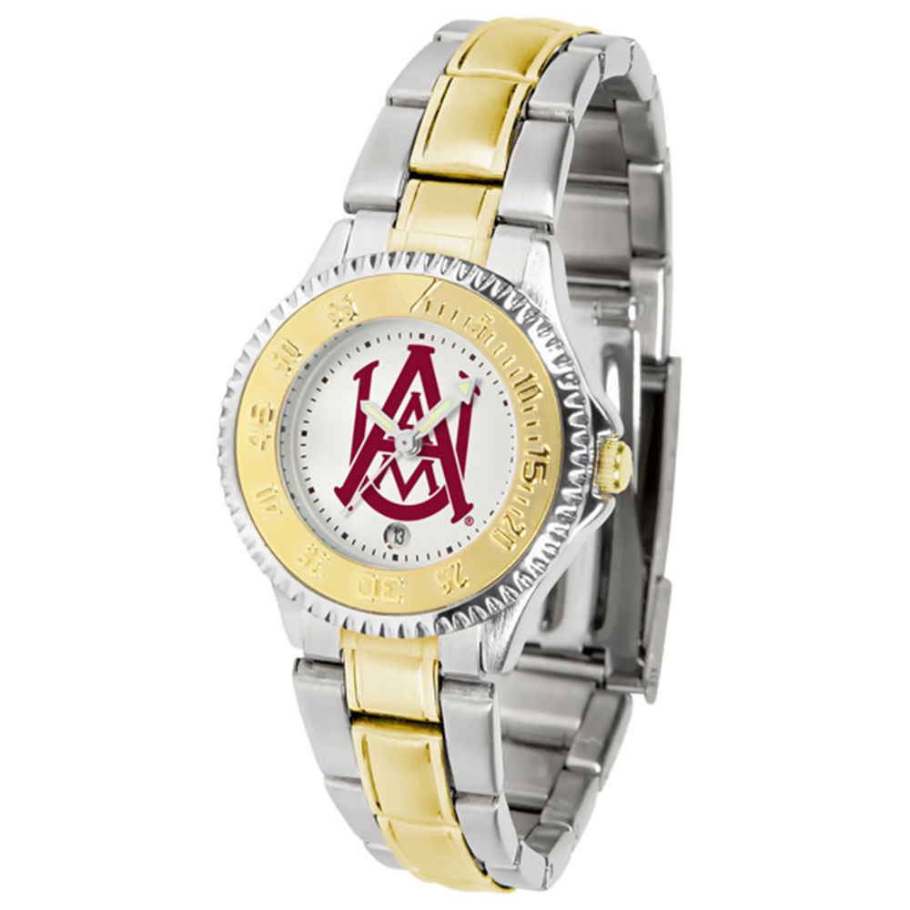 "Alabama A&M Bulldogs NCAA ""Competitor"" Women's watch (2-Tone Stainless Steel Band)"