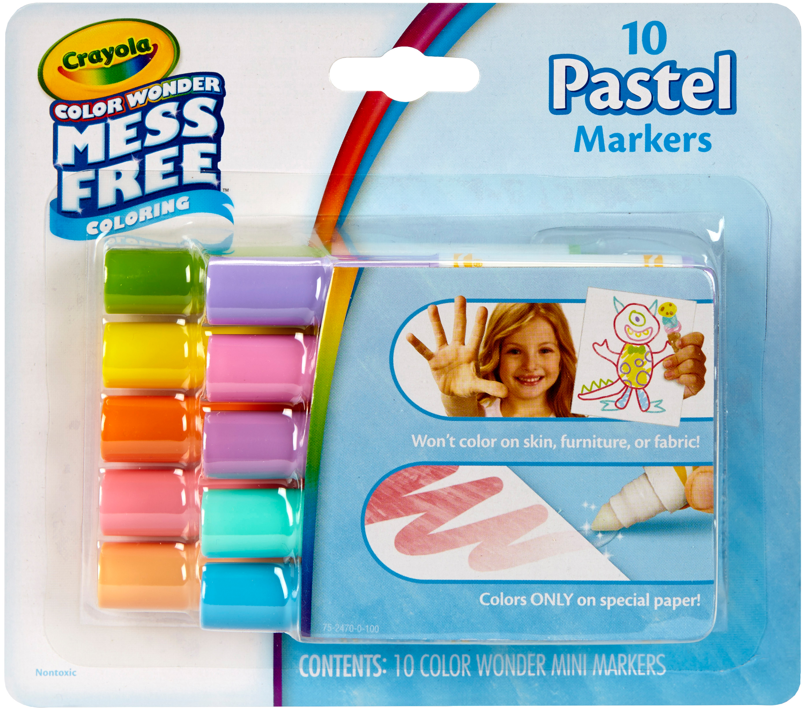 Crayola Color Wonder 10 count Mini Markers in Pastels by Crayola
