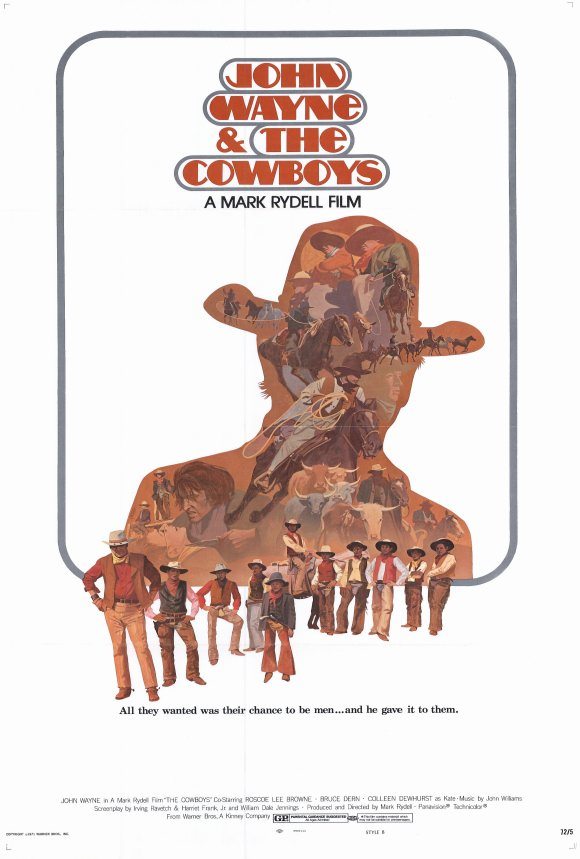 Cowboys (1972) 27x40 Movie Poster by Pop Culture Graphics