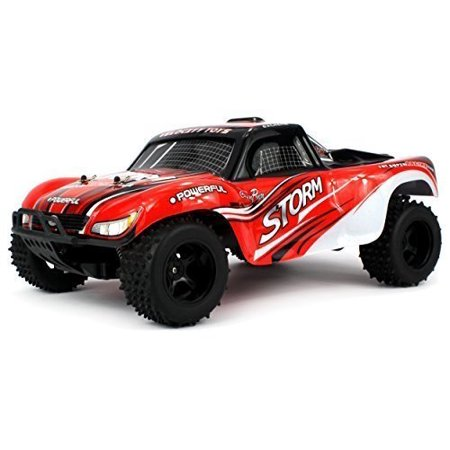 Velocity Toys Off Road Storm Truggy Remote Control Rc Truck  High Performance Lithium Battery  Big Size 1 10 Scale Rtr W  Working Spring Suspension
