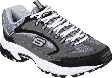 51286 EW Wide Fit Charcoal Skechers Shoes Men Memory Foam Athletic Train Comfort by Skechers