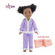 "Emily Rose 14 Inch Doll Clothes for Wellie Wishers | Lavender 2 Piece 14"" Doll Pajamas PJs Outfit 