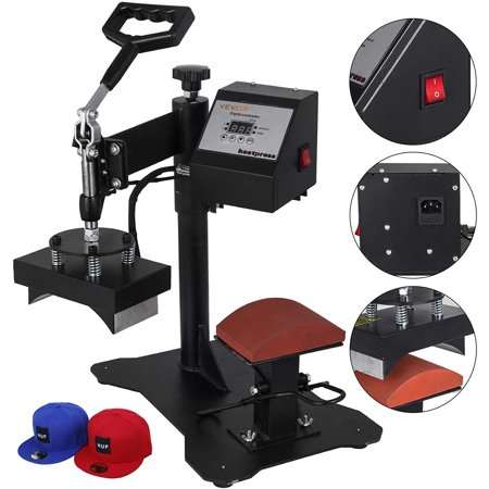 BestEquip Heat Press 6X 3 inch Swing-Away Heat Press Machine Professional Transfer Sublimation Hat Press with Digital LCD