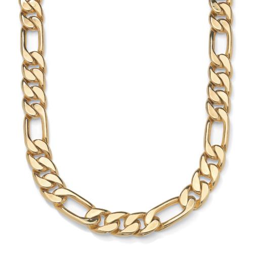 Palm Beach Jewelry Men's Goldtone Figaro Chain