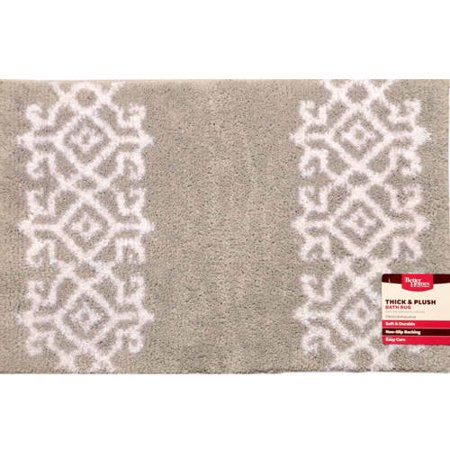 Better homes and gardens thick and plush silver white irongate bath rug for Better homes and gardens bathroom rugs