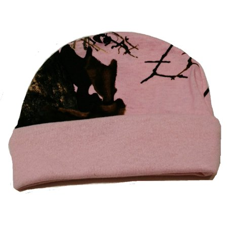 Baby Pink Camo Cotton Jersey Hat Mossy Oak Breakup Country Camo Infant Size