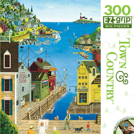MasterPieces Town & Country A Walk on the Pier - Ocean Pier Large 300 Piece EZ Grip Jigsaw Puzzle by Art