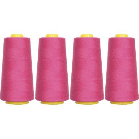 Rose Sewing (4 Cones Ruby Rose Serger Sewing Thread, 2750 Yd Cones, TEX 27 40S/2,)