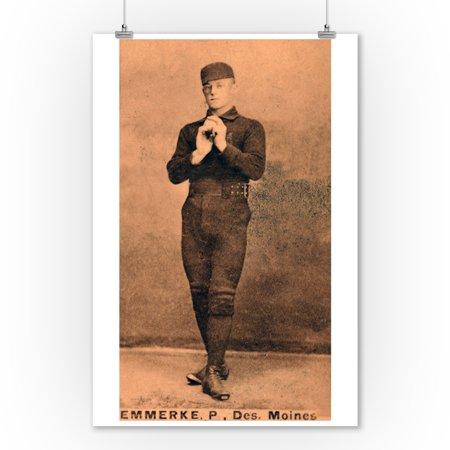 Des Moines Minor League - R. Emmerke - Baseball Card (9x12 Art Print, Wall Decor Travel Poster) - Toys R Us Des Moines