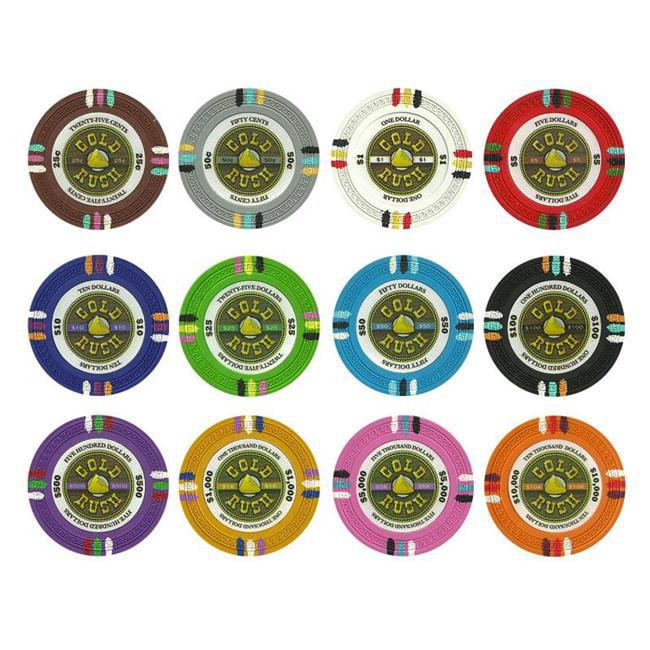 Bry Belly CPGR-SAMPLE Gold Rush 13. 5 Gram Poker Chip Sample Pack - 12 Chips
