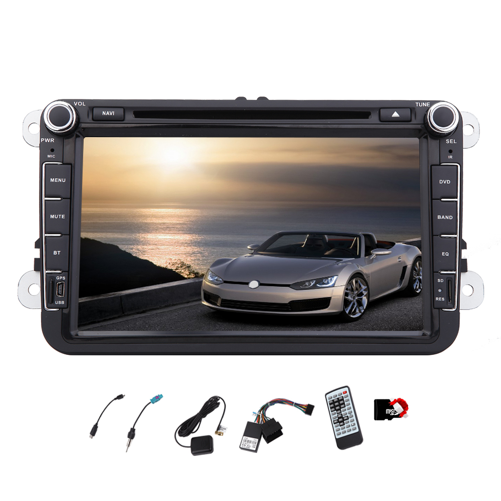 8 Inch GPS Car Stereo Double Din Navigation DVD Player HD...