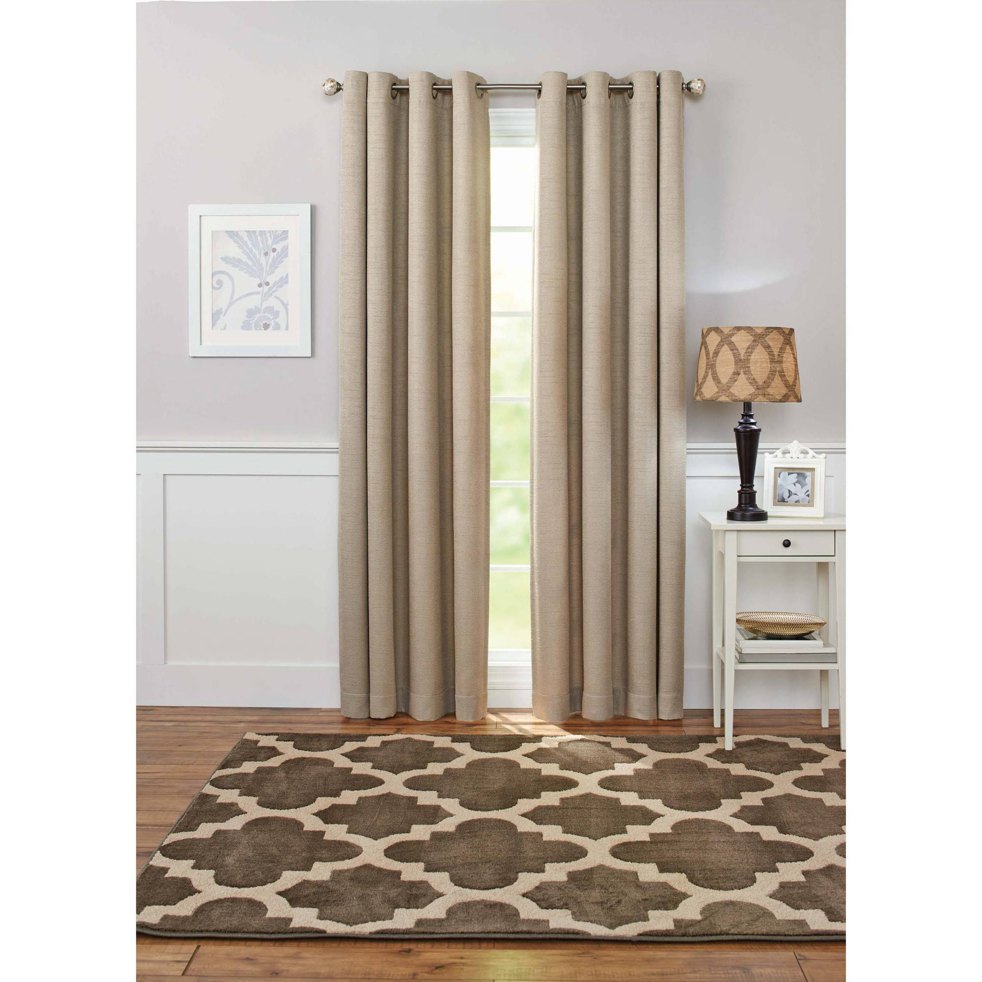 Better Homes and Gardens Solid Basketweave Grommet Curtain Panel