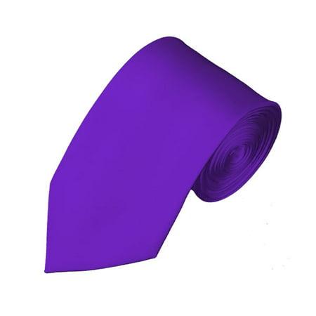 Solid Plum Violet Slim Men's (Violet Plum)