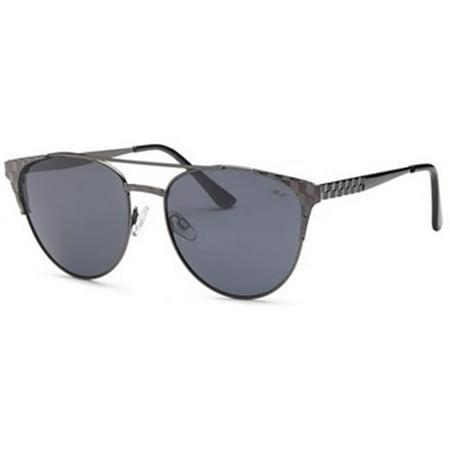 4c4a29f350b MIA NOVA - Mia Nova MN2017-116 BLACK Retro Semi-Round Style Sunglasses  44   Black - Walmart.com
