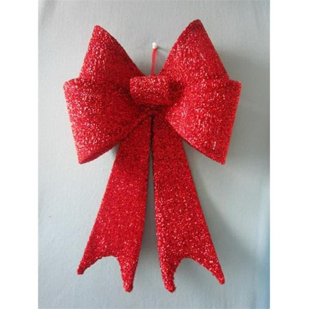 (Winterland WL-MTBOW-18-RE Pvc Red Sequin Bow, 18 in.)