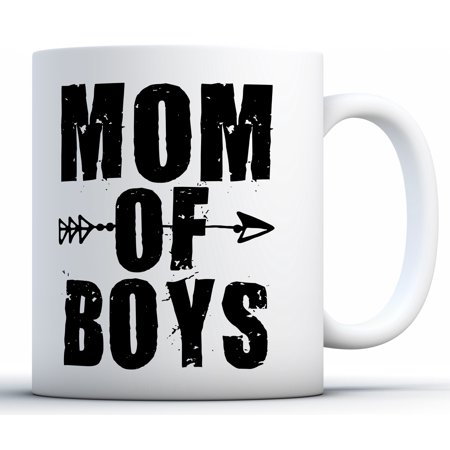 Awkward Styles Mom Of Boys Coffee Mug Boy Mom Gifts for Women Mother's Day Coffee Mug Baby Boy Mom Mug Mom Gifts for Coffee Lovers and Tea Lovers Mom Of Boys Tea Mug Funny Boy Mom Travel Mug