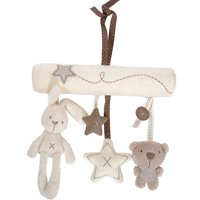 ZEDWELL Infant Baby Plush Cartoon Animals And Star Hanging Musical Toys For Bed Stroller Car Seat Bar