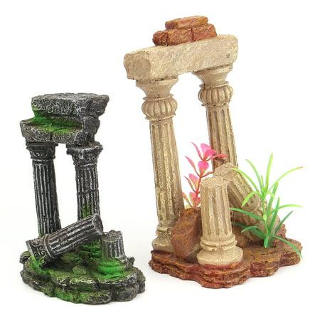 Ancient Roman Ruins Ornament for Aquarium Fish Tank Decoration Terrarium