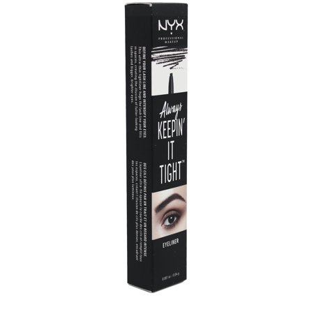 NYX Professional Makeup Always Keepin It Tight Eyeliner Black - 0.04oz