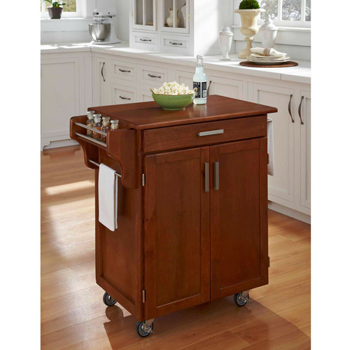 Home Styles Cuisine Cart, Warm Oak with Oak Top by HomeStyles