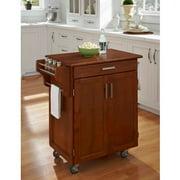 Home Styles Cuisine Kitchen Cart, Warm Oak with Oak Top