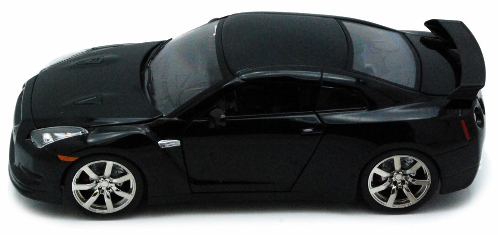 2009 Nissan GT-R, Black Jada Toys 96811 1 24 scale Diecast Model Toy Car by Jada