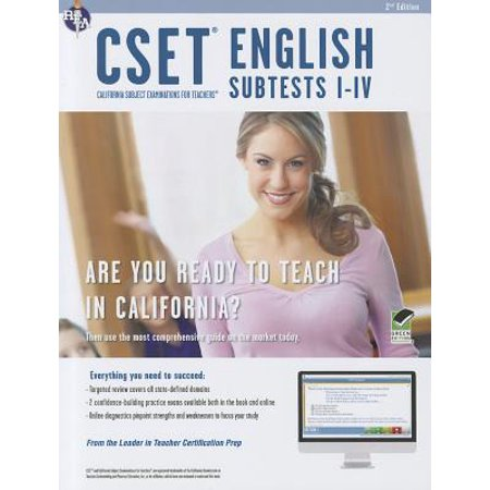 Cset English Subtests I-IV Book + Online - Walmart com