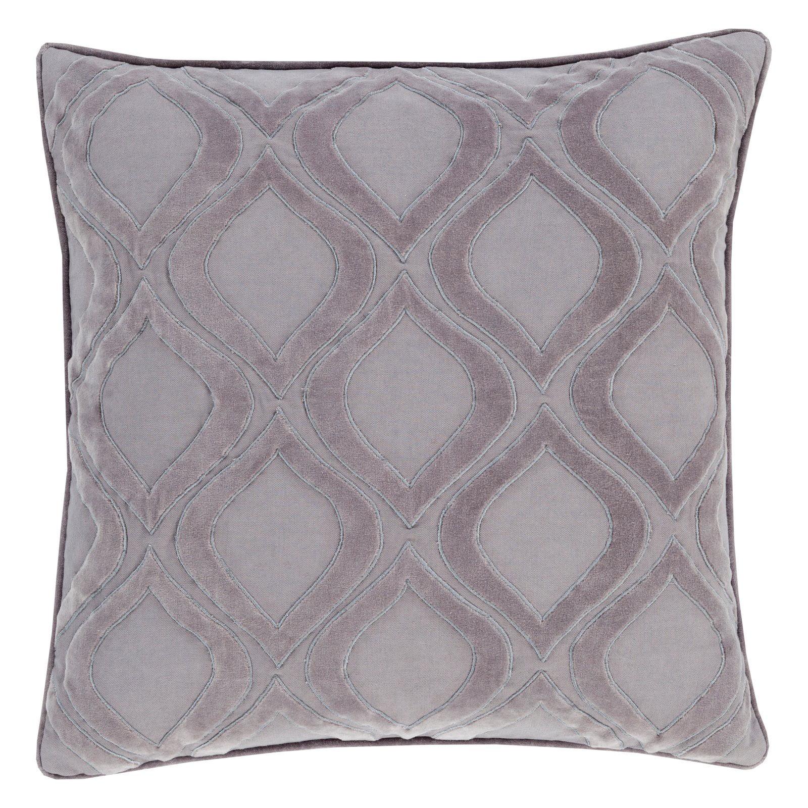 Surya Diamond and Cross Velvet Decorative Throw Pillow