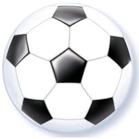 """Soccer Ball 22"""" Latex Bubble Balloon, By Single Source Party Supplies"""