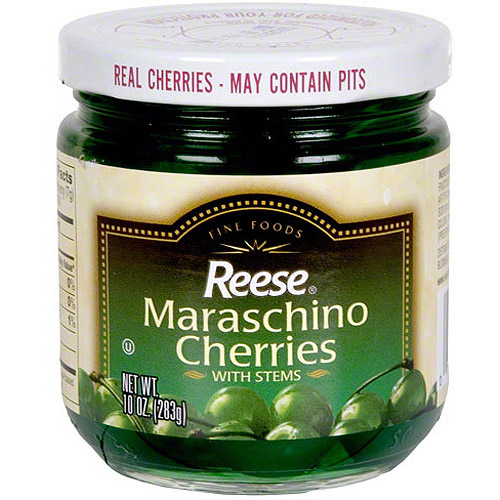 Reese Green Maraschino Cherries With Stems, 10 oz (Pack of 12)