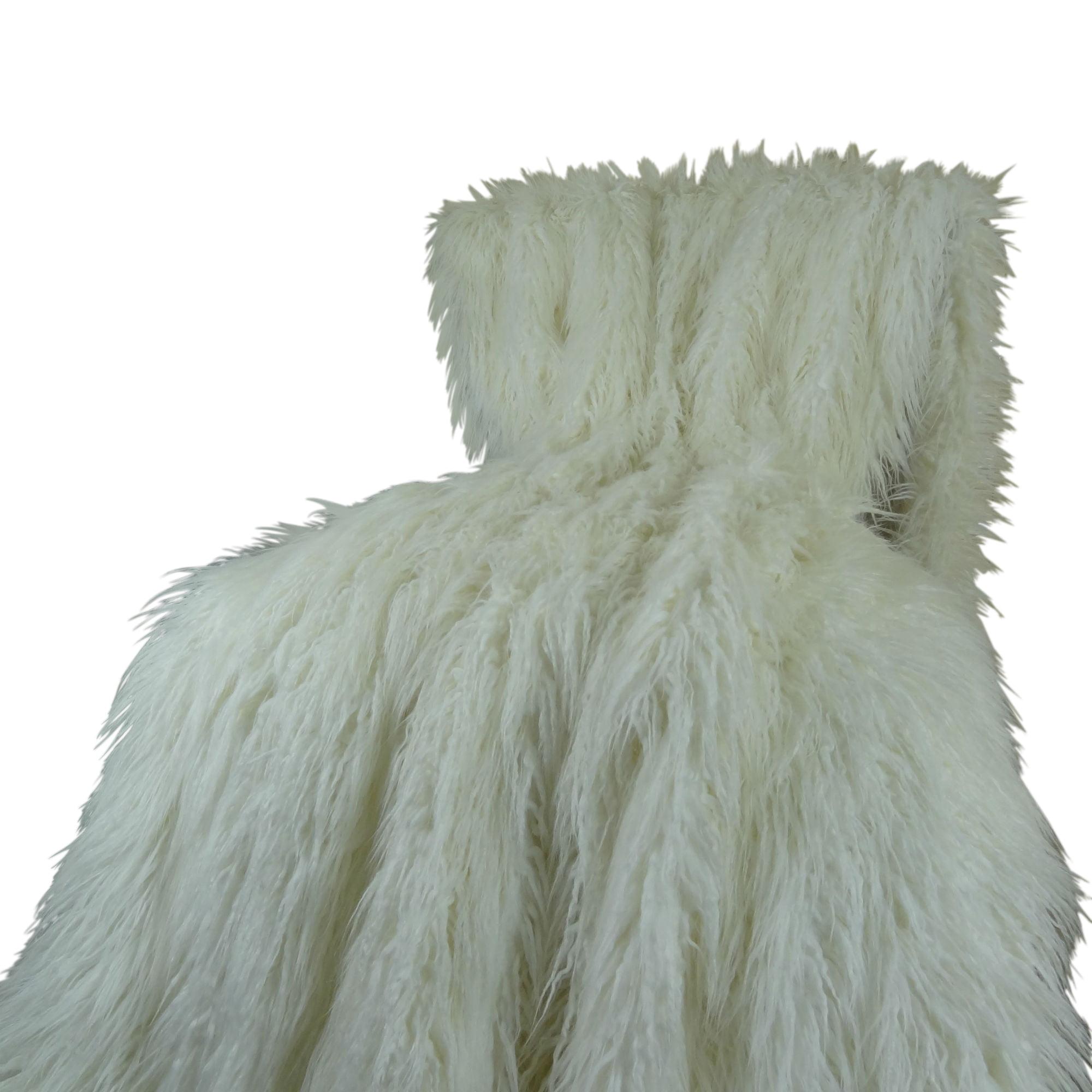 Plutus Mongolian Faux Fur Throw