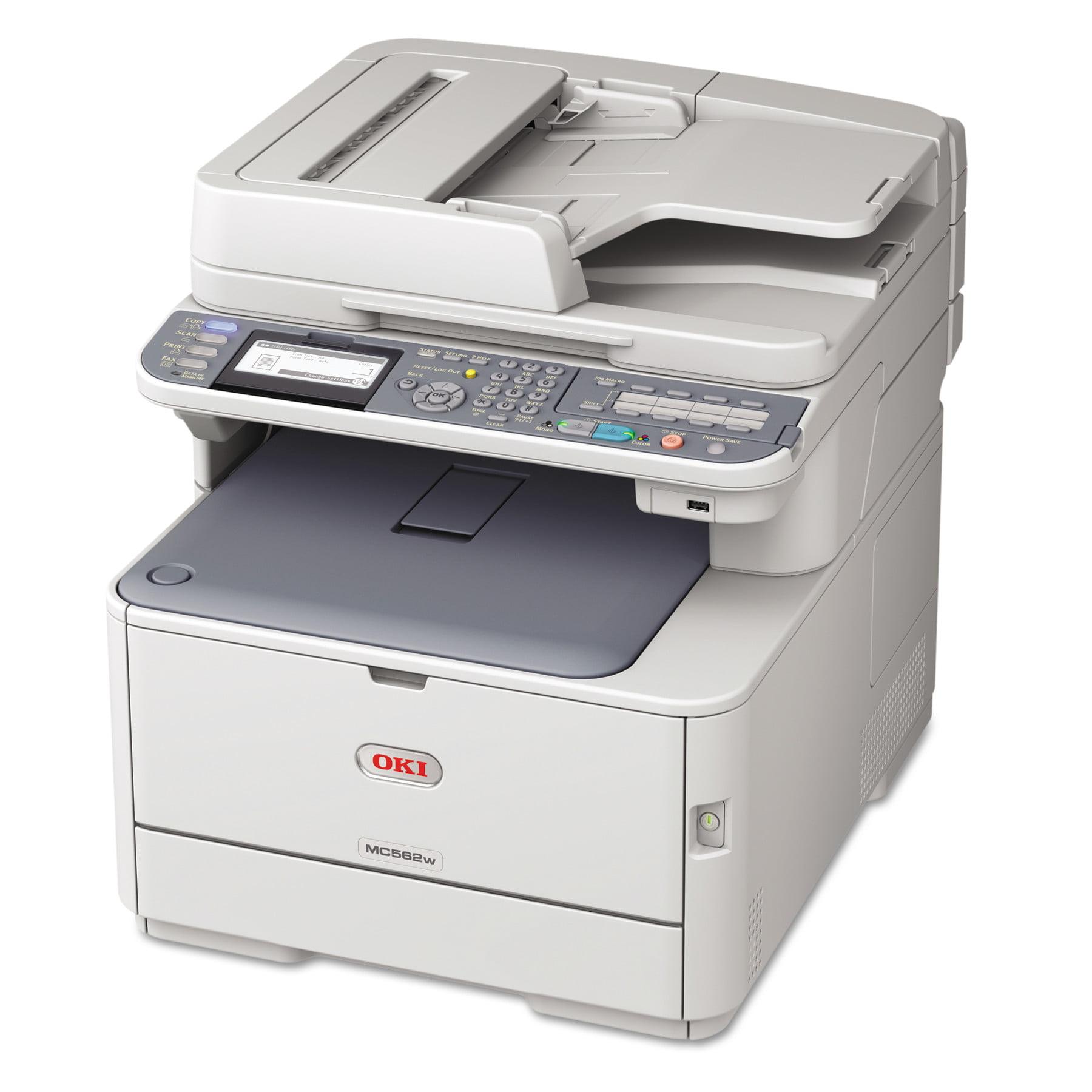 Oki MC562w Wireless Multifunction Color Laser Printer, Copy/Fax/Print/Scan