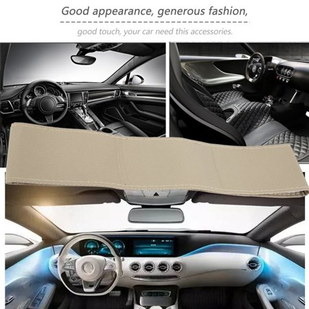 Auto Car Steering Wheel Cover With Needles And Thread Leather Car Covers Suite - image 2 de 5