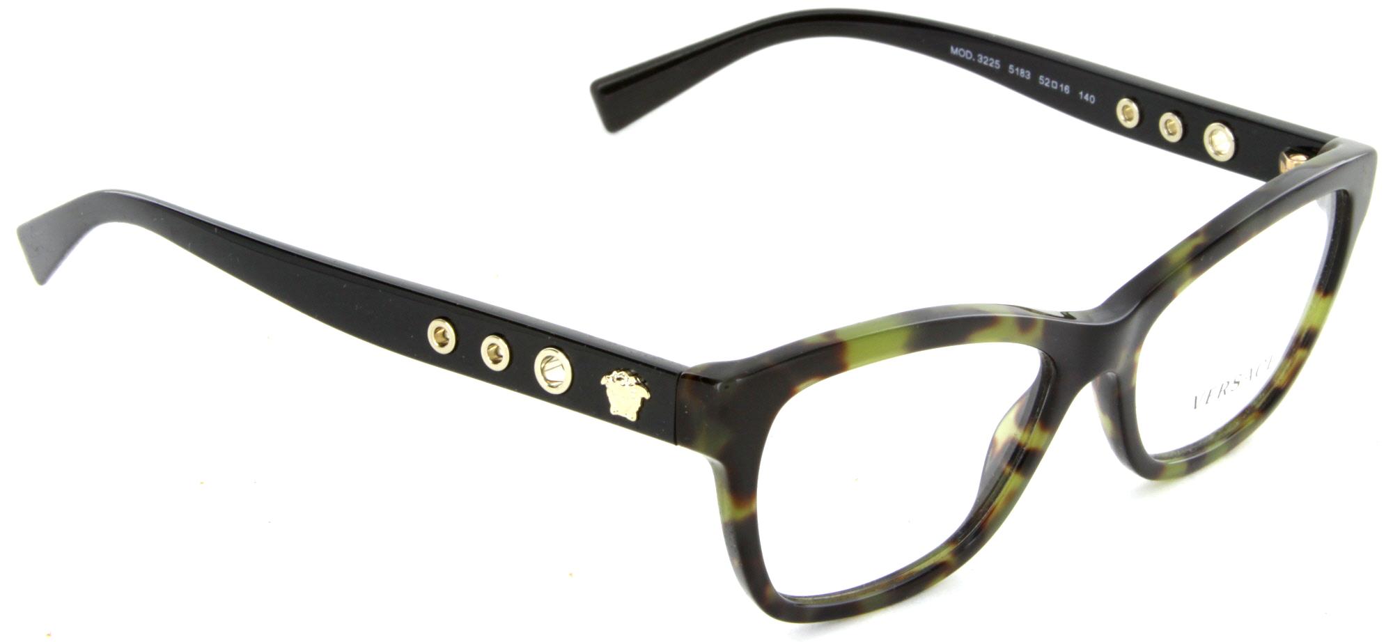 f5369e786286 VERSACE Eyeglasses VE3225 5183 Havana Military 52MM - Walmart.com