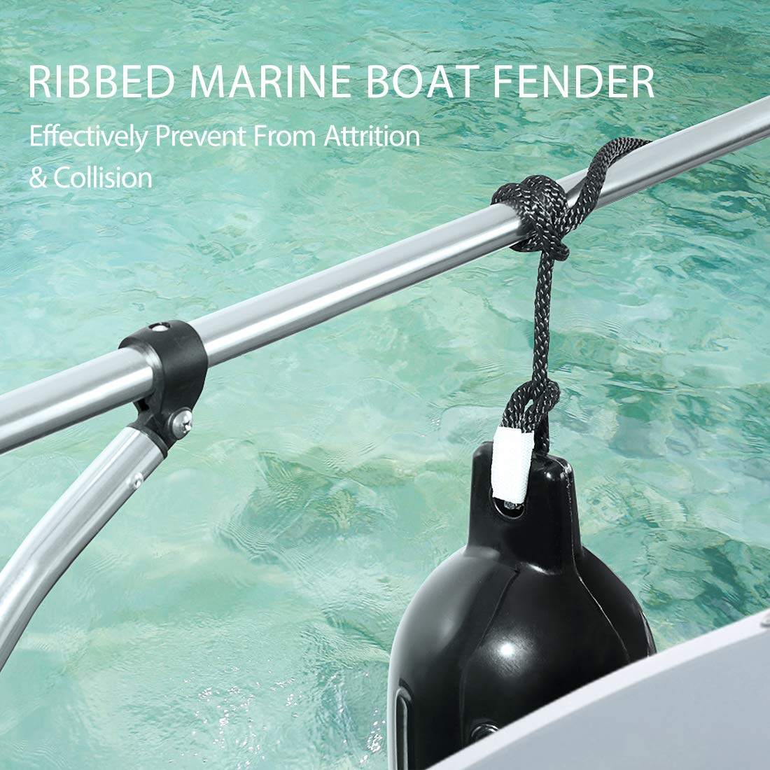 YOUNG MARINE Made White Boat Fender for Bumper Shield Protection Pack of 4