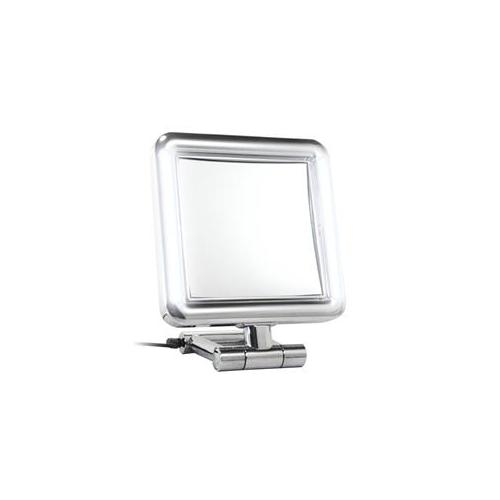 Rucci M897 7x and 1x Magnification Led Square Chrome Stand Mirror