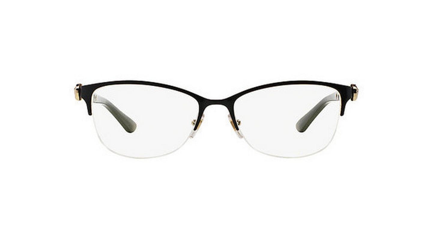 8198ea9b77 VERSACE Eyeglasses VE 1228 1291 Black Pale Gold MM - Walmart.com